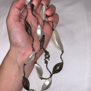 Long Vintage shell necklace